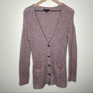 American Eagle Knit Button Down Long Cardigan